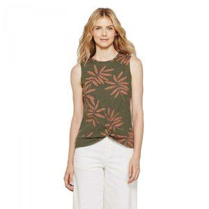 NWT A New Day Twist Front Tank Top Small Olive